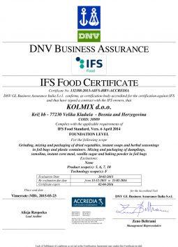 IFS certifikat 2015